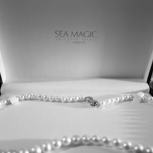 """18"""" Fresh water cultured pearl necklace."""